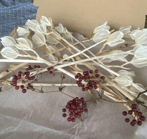 美しい純白 ウバユリ 花材ドライフラワー ブリーチ乾燥済み リース/スワッグ等に