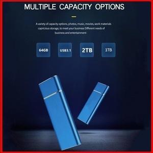 USB3.1 ポータブルSSD 2TB Type-C ブルー