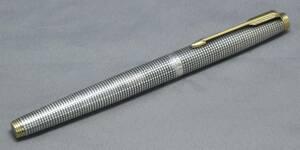^*[ Parker ]. go in type fountain pen silver si gap 14K*^