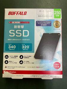【新品未使用】ポータブルハードディスク BUFFALO 外付けHDD USB SSD250GB
