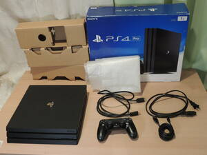 SONY PS4 Pro 1TB  ブラック 箱付き 初期化済み CUH-7000B 動作確認済   本体 コントローラー HDMI MicroB
