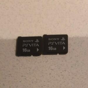 PS Vita メモリーカード PlayStation Vita 16gb 2枚セット