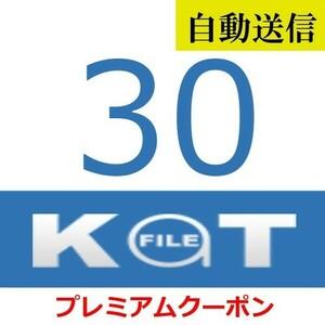 【自動送信】KatFile 公式プレミアムクーポン 30日間 通常1分程で自動送信します