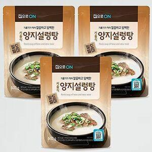 新品 目玉 スープ ソルロンタン X-YR 簡単調理 (3個セット) レトルト 【 500g 】韓国 牛肉スープ 韓国食品 韓国料理 時短