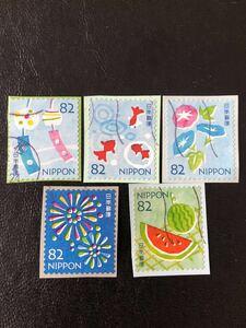 夏のグリーティング2019 82円5枚完 使用済み切手