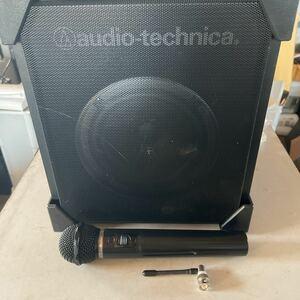 audio-technica ワイヤレスアンプ ATW-SP77 ワイヤマイク ATW-T70付き