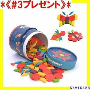 《#3プレゼント》 パターンブロック 250ピース 立体的な形づくり 図形の基礎 知育玩具 60