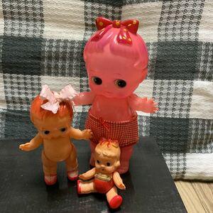 昭和 レトロ セルロイド 人形 デコちゃん キューピー ベビー人形