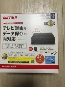 新品未開封 バッファロー パソコン&テレビ録画用外付けHDD 4TB HD-EDS4.0U3-BA ブラック