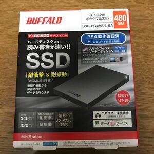 SSD-PG480U3-BA 外付けSSD SSD-PGU3-Aシリーズ 480GB ブラック BUFFALO ポータブルSSD