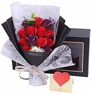 レッド Capiner 想いをプレゼントに ソープフラワー 薔薇 花束 記念日 バラ ギフト 造花 贈り物 お祝い 誕生日 結