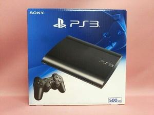 【1円スタート】PS3 チャコール・ブラック 500GB CECH-4300C