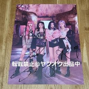 BLACKPINK◎[4+1]THE ALBUM PHOTOBOOK[LIMITED EDITION]両面ポスター⑤◎直筆サイン