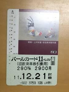 近鉄回数券カード1枚(矮鶏・上村松篁 松伯美術館所蔵)