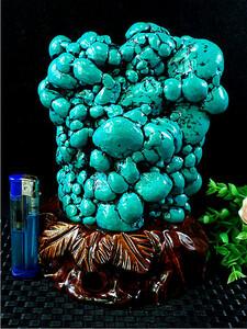 重さ約:2.4kg超綺麗ターコイズ(トルコ石)原石167J3-214J51D
