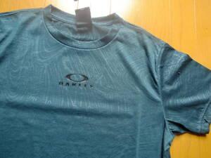 オークリー メンズS 柄付き グリーン 速乾吸汗Tシャツ FOA400811 新品 定価4000