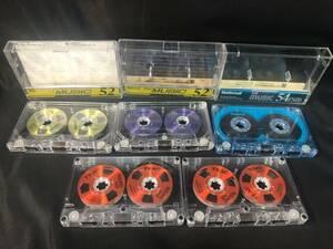 E30e43D 5個 TEAC SOUND オープンリールサウンド ティアック カセットテープ 46X C-52 C-54
