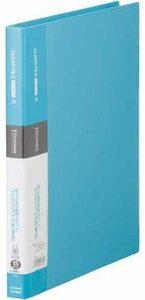 【未使用品】キングジム クリアファイル シンプリーズ 差替式 A4 15ポケット 水色 138SPミス×2冊セット