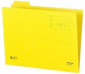 【未使用品】コクヨ A4-4F-1Y 1/4カットフォルダー 第1見出し A4 黄×10冊セット