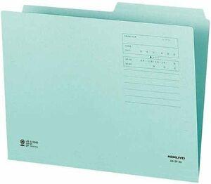 【未使用品】コクヨ A4-2F-2B 1/2カットフォルダーカラー第2見出し A4青 10冊セット