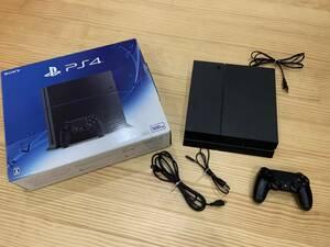 PS4本体 500GB ジェット・ブラック /SONY PlayStation4(CUH-1200A B01) 動作確認済 箱・コントローラー付属