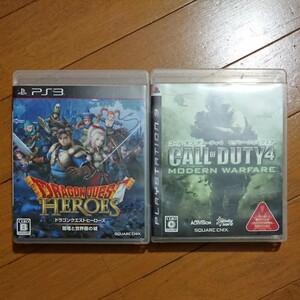 「ドラゴンクエストヒーローズ」「コールオブデューティ4」PS3ソフト