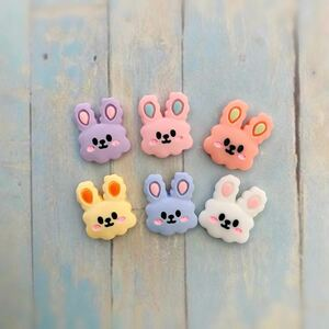 デコパーツ[6] ハンドメイド かわいい 動物 ウサギ