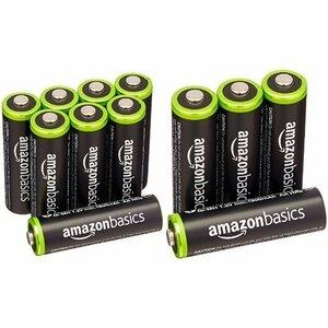 ベーシック 充電池 充電式ニッケル水素電池 単3形8個セット (最小容量1900mAh、約1000回使用可能) &a