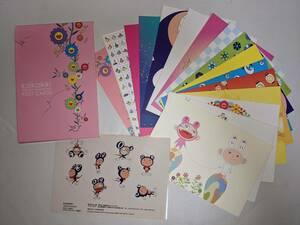 村上隆 ポストカード セット カイカイキキ kaikaikiki 2001 16枚 シール 初版 Takashi Murakami