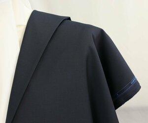 ●スキャバル社・珍しいイタリア製・定番の濃紺無地・他色も混ざったようなオシャレな濃紺・ハリのある極上super120・長さ6.2/5.8m