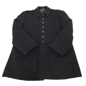 トリコ コムデギャルソン サイズ表記なし 長袖 コート アウター ボタン ウール 混 メンズ ブラック 黒
