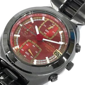 アルバ デイト クロノグラフ クォーツ 腕時計 V657-6030 メンズ レッド文字盤 付属品有り ファッション小物 ALBA
