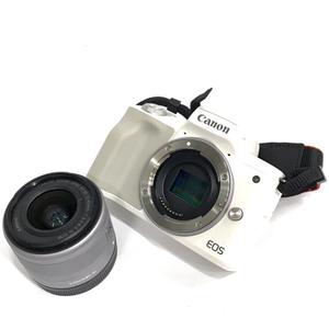 1円 Canon EOS KISS M ミラーレス一眼 ボディ EF-M 15-45mm 1:3.5-6.3 IS STM レンズ キャノン C2490