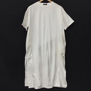 メルロー サイズ F コットン 半袖 Tシャツ ワンピース スリッド トップス レディース ホワイト 白 タグ付き merlot