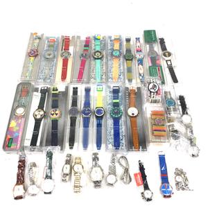 スウォッチ 腕時計 SCUBA 200 BLUE MOON SDN100 & CHRONO SILVER STAR SCN 102 含 稼働 未稼働 まとめ セット