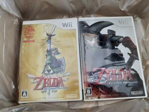 Wii ゼルダの伝説スカイウォードソード+トワイライトプリンセス 動作確認済み送料無料