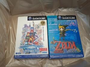 ゲームキューブ ファンタシースターオンライン1,2+ゼルダの伝説風のタクト動作確認済み 送料無料