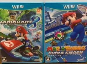 WiiU マリオカート8+マリオテニスウルトラスマッシュ 動作確認済み送料無料 大乱闘スマッシュブラザーズ