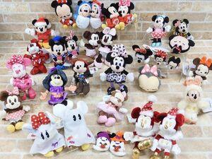 1円~!! 未使用品多数! Disney/ディズニー ぬいぐるみ キーチェーン&ストラップ/プラッシュキーチェーンセット 【1664y】