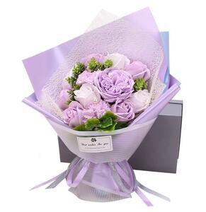 ソープフラワー プレゼント 人気 花束 造花 フラワーギフト 石鹸花 ギフトボックス付き 母の日のプレゼント 枯れない メッセージカード付き