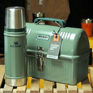 スタンレーSTANLEYランチボックス5.2L&クラシック真空ボトル0.47Lグリーンセット 正規品 アウトドア キャンプ ツールボックス 水筒