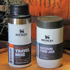 STANLEYワンハンドマグ0.35L&フードジャースリムの2点セット☆ホワイト 正規品スタンレー スープジャー ランチジャー アウトドア