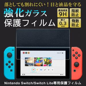【新品未使用】Nintendo Switch Lite 保護フィルム 1枚 液晶 保護 ガラスフィルム 任天堂 スイッチライト 強化ガラス 9H