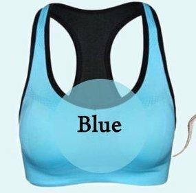 【スポーツブラ ブルー Lサイズ】スポブラ 揺れない ノンワイヤー ブラジャー ブラトップ タンクトップ スポーツ 黒 ヨガ フィットネス