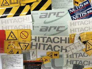 construction machine for heavy equipment for Yumbo for sticker large amount set Hitachi original part 30 sheets and more