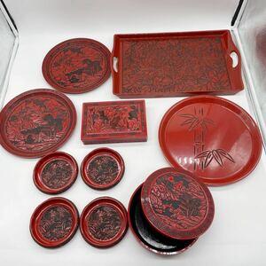菓子器 茶道具 堆朱 漆器 伝統工芸 工芸品