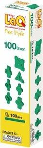 グリーン ラキュー (LaQ) フリースタイル(FreeStyle) 100グリーン