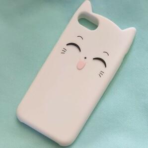 スマホケース iPhone 7/8 ネコ フェイス スマホカバー iPhoneケース