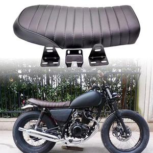 汎用 バイク カフェ レーサー シート ステー付属 ブラック