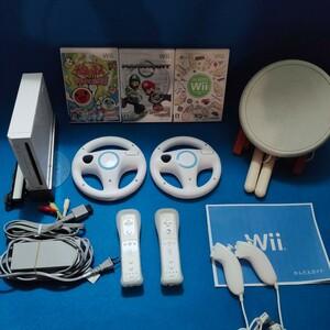 任天堂 Wii マリオカート ハンドル 太鼓の達人 タタコン セット
